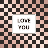 Greeting card chess rose gold background vector Royalty Free Stock Images