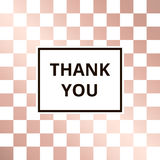 Greeting card chess rose gold background vector Stock Photography