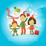 Greeting card- children Stock Photo