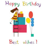 Greeting card for children birthday party Royalty Free Stock Photo