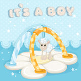 Greeting card with a childrens rug it`s a boy Royalty Free Stock Images