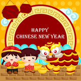 Greeting Card for Chinese New Year Royalty Free Stock Photos