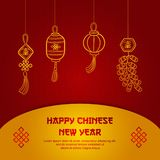 Greeting card chinese new year , poster or banner design, chinese font is mean lucrative vector illustration