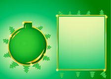 Greeting card with Christmas balls Royalty Free Stock Photos
