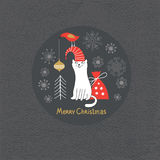 Greeting card, Christmas card Stock Photography