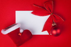 Greeting card and christmas decoration Stock Image
