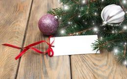 Greeting card for christmas Stock Photo