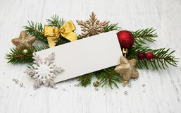 Greeting card for christmas Royalty Free Stock Photography
