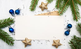 Greeting card for christmas Stock Images