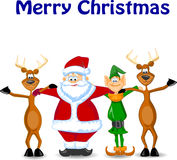 Greeting Card Christmas with deer,vector Royalty Free Stock Photography