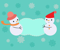 Greeting card with Christmas Frame - Illustration Stock Images