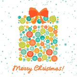 Greeting card with christmas gift Royalty Free Stock Photography
