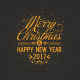 Greeting Card for Christmas and Happy New Year. Royalty Free Stock Photo