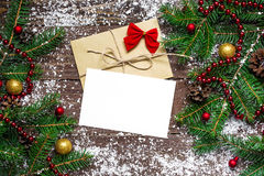 Greeting card for Christmas holidays and happy new year stock images