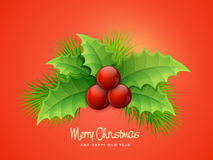 Greeting card for Christmas and New Year celebration. Stock Photo
