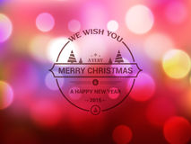 Greeting card for Christmas and New Year celebration. Shiny elegant greeting card design for Merry Christmas and Happy New Year celebration Stock Photography
