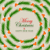 Greeting card for Christmas and New Year. Royalty Free Stock Photography
