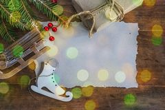 Greeting card for christmas and new year holidays Stock Photo