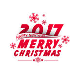 Greeting Card for Christmas and New Year 2017. Stock Photo