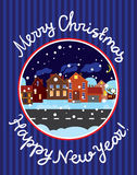 Greeting card with Christmas and New Year Stock Photo