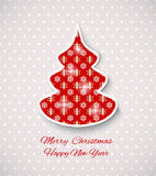 Greeting  card with Christmas tree. Royalty Free Stock Photography