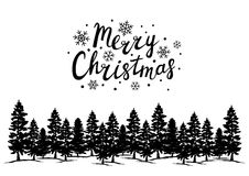 Greeting card with Christmas trees Royalty Free Stock Photos