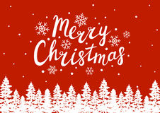 Greeting card with Christmas trees Royalty Free Stock Images