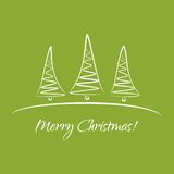 Greeting card with Christmas trees Stock Photo