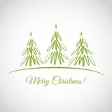 Greeting card with Christmas trees Royalty Free Stock Image