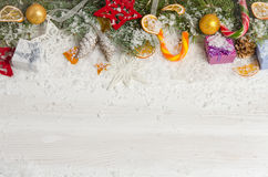 Greeting card for Christmas Stock Photography