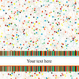 Greeting card with circles and stripes Stock Photo