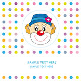 Greeting card. Clown Royalty Free Stock Photography