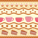 Greeting card with a collection of teacups Royalty Free Stock Image