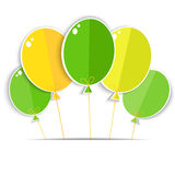 Greeting card with a color balloons. Royalty Free Stock Photography