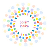 Greeting card with colored circles Royalty Free Stock Image