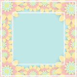 Greeting card with colored flowers. Invitation card for wedding, Stock Images