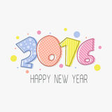 Greeting card with colorful text for New Year. Elegant greeting card design with colorful text 2016 for Happy New Year celebration Royalty Free Stock Image