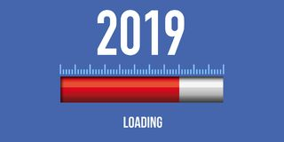 Countdown symbol before 2019 royalty free illustration