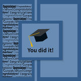 Greeting Card With Congratulations Graduate Royalty Free Stock Photography