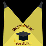 Greeting Card With Congratulations Graduate Royalty Free Stock Images