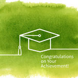 Greeting Card With Congratulations Graduate Stock Photography