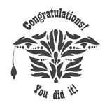 Greeting Card With Congratulations Graduate Stock Image