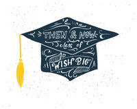 Greeting Card With Congratulations Graduate Completion of Studies Stock Image
