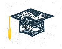 Greeting Card With Congratulations Graduate Completion of Studies Stock Images