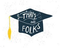 Greeting Card With Congratulations Graduate Completion of Studies Royalty Free Stock Photography