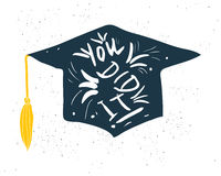 Greeting Card With Congratulations Graduate Completion of Studies Royalty Free Stock Photo