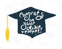 Greeting Card With Congratulations Graduate Completion of Studies Stock Photography