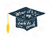 Greeting Card With Congratulations Graduate Completion of Studies Stock Photos