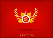Greeting card with congratulations to 23 february. And Victory Day Royalty Free Stock Images