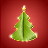 Greeting card with creative christmas tree Stock Photo